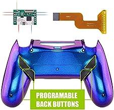 eXtremeRate Dawn Programable Remap Kit PS4 Scuf Reasignación de Botones para Playstaion 4 con Mod Chip&Carcasa Trasera&4 Botones Traseros Compatible con PS4 JDM 040/050/055(De Azul a Violeta)