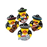 Fun Express Fiesta Mariachi Rubber Duckies for Cinco de Mayo Party (Set of 12)