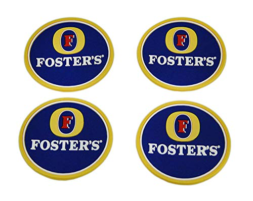 Fosters - Set di 4 sottobicchieri in gomma per bevande
