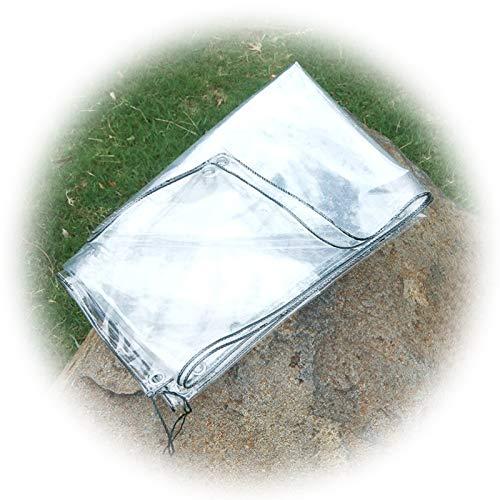 Toldo Impermeable, Lona PVC Transparente Anti-exposición, Ojal Metal Resistente Frío, Barco Tienda Balcón Toldo Jardín LIANGLIANG (Color : Claro, Size : 2x2m)