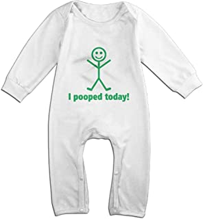 OPQRSTQ-O I Pooped Today Unisex Baby Long Sleeve Cute Bodysuit Jumpsuit Outfits