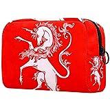 Bolsa de almacenamiento portátil para cosméticos de viaje, multifuncional para dama, diseño vintage de ángeles arpas trompetas