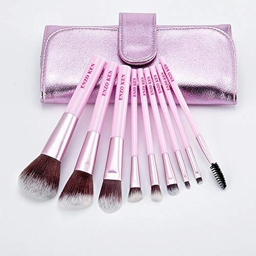 Ensemble De Pinceaux De Maquillage, Outils De Maquillage, Pinceau À Paupières Rouge Net, Pack Violet, 9 Pinceaux Violets