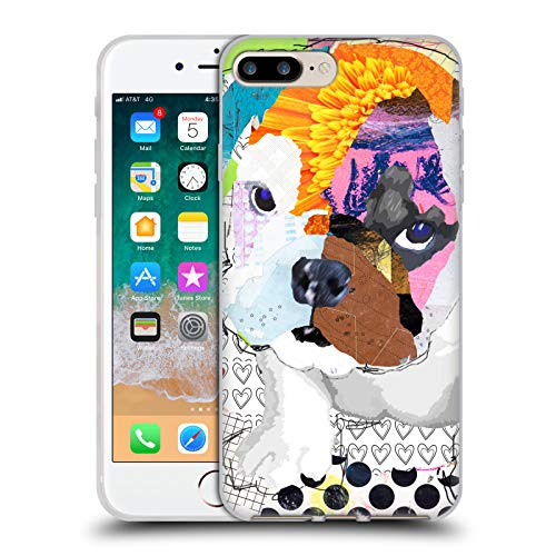 Head Case Designs Oficial Michel Keck Bulldog Cachorro Perros 3 Carcasa de Gel de Silicona Compatible con Apple iPhone 7 Plus/iPhone 8 Plus