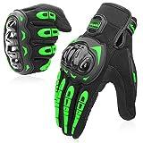 COFIT Guanti da Moto, Touchscreen sulle Dita, Guanti per corse in Motocicletta, per guidare Quad (ATV), per Arrampicata, Escursioni e Altri Sport All'aperto - Verde XL