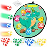 MagicWe Dart Board for Kids,Board Games Set for Boys and Girls with 12 Sticky Balls,Safe Dart Game,Indoor and Outdoor Safe Classic Toy Gift for Child Ages 1-Year-Old and Up, 14.2Inches