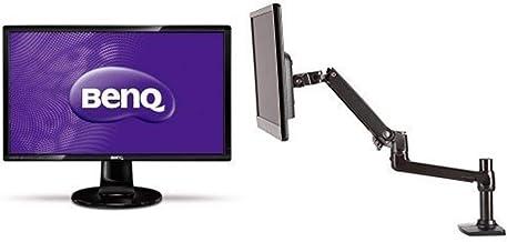 BenQ GL2760H 27-inch HDMI LED-lit Monitor & Amazon Basics Single Monitor Display Mounting Arm Set
