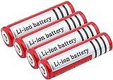 Batería De Litio BRC 18650 3 7v 3000mah BateríAs Recargables Superiores Puntiagudas para Cargar La Celda De Iones De Litio 4pcs