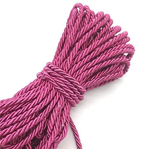 WEDSA Cuerda de Paracord de 10 Yardas, Cuerda de Polipropileno de 3 Hilos de 5 mm, Accesorios de decoración del hogar, Cuerda para Pulsera, decoración rústica para el hogar-19