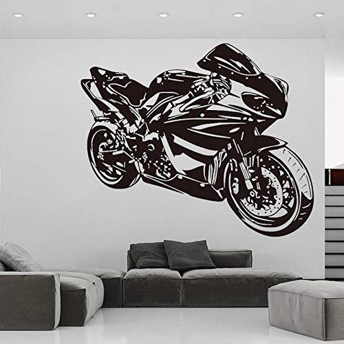 Pegatina de pared para motocicleta calcomanía de vinilo para Motor de tráfico Mural para dormitorio de niños decoración para sala de estar pegatinas para motociclistas acrobacias para conductores