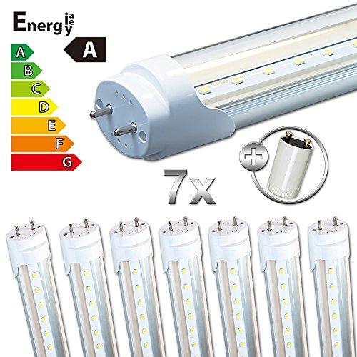 LEDVero 8x SMD LED Röhre/Tube Leuchtstoffröhre T8 G13 transparent Abdeckung - 60 cm, 8W, warmweiß 3000K, 800lm- montagefertig LDLM151