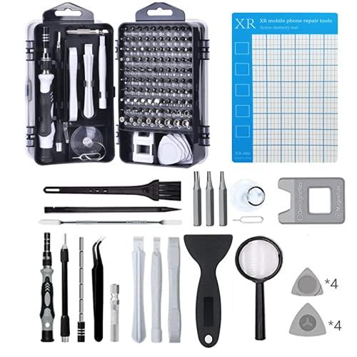 LIZHOUMIL - Juego de destornilladores de 125 piezas, kit de herramientas de destornillador de metal para teléfono móvil, PC y electronico