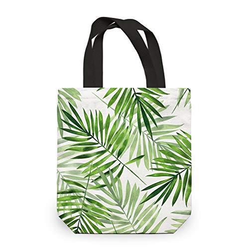 NymphFable Bolsa Compra Reutilizables Ecológicas Hoja Arbol Verde Bolsas para Comestibles Plegables Grande