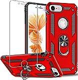 Folmeikat - Funda para iPhone 8, iPhone 7, iPhone 6s/6 (360º), diseño de anillo de metal giratorio de 360 grados, con esquinas reforzadas de absorción de impactos, suave TPU de silicona de 4.7'