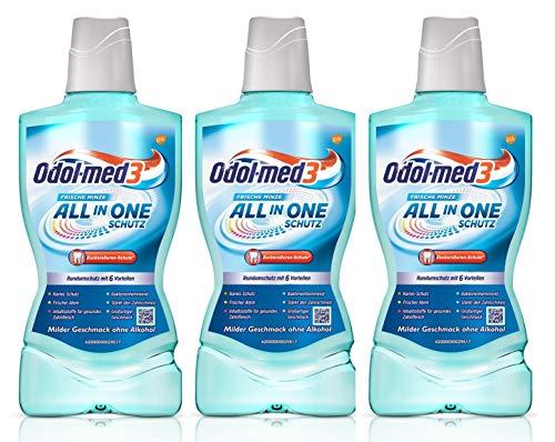 Odol-med3 All in One Schutz Mundspülung, 500 ml.