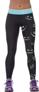 Sister Amy Women's Fitness Hihg Waist Yoga Pants Printed Stretch Ankle Legging Eye