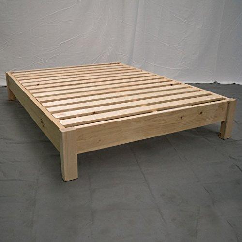 Unfinished Farmhouse Platform Bed - King/Traditional Platform Frame/Wood Platform Reclaimed Bed/Modern/Urban/Cottage Platform Bed