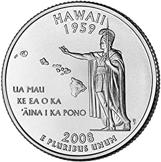 2008 S Clad Proof Hawaii State Quarter Choice Uncirculated US Mint