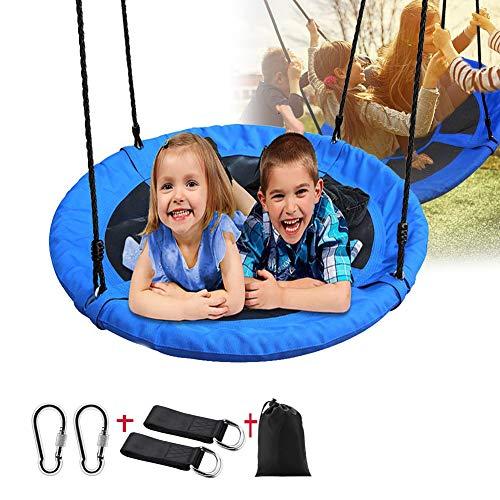 Nest Swing-stoel 100 Cm, Nest Swing Ronde Boomschommel, Oxford-stof, Maximale Belasting 100 Kg, Binnen, Buiten, Blauw