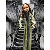 Haunted Hill Farm HHBABY-1FLSA Life-Size Animatronic Zombie, Indoor/Outdoor Halloween Decoration, Multi