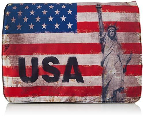 Luxburg - Borsa a tracolla con motivo bandiera USA