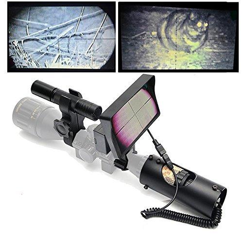 BESTSIGHT DIY Night Vision Scope for Night Hunting with 850nm IR Illumination Camera and 5' Screen
