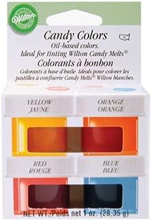Candy Colors .25oz 4/Pkg-Yellow, Orange, Red & Blue