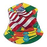 n/a seaml copricapo bandana fascia bandiera etiopia con bandiera america scaldacollo ghetta testa avvolgere sciarpa copricapo passamontagna