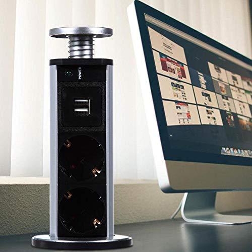 220 V 16A Enchufes eléctricos 2 Toma de corriente USB Toma de...