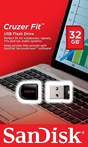 Clés USB SanDisk Cruzer Fit 32 Go USB 2.0 SDCZ33-032G-B35 - 4