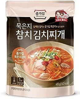 Traditional Korean Kimchi Stew with Tuna (450g, 1-Pack) 종가집 묵은지 참치 김치찌개
