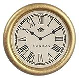 Melody Jane Puppenhaus Rund Gold Gerahmt Wand Uhr Miniatur 1:12 Zubehör Römische Zahlen