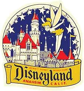 Disneyland Anaheim California Yellow Vintage Travel Decal Sticker Souvenir