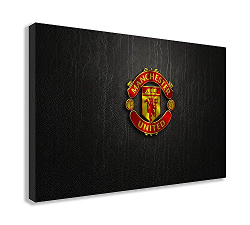 MANCHESTER UNITED LOGO CANVAS WALL ART (44 X 26 / 110 X 65cm)