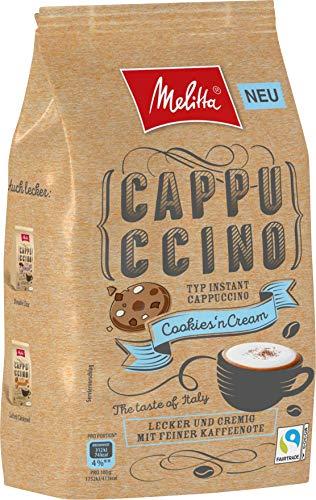 Melitta Instant Cappuccino, koffeinhaltiges Getränkepulver, cremig mit feinen Kaffeenoten, Cookies' n Cream, 330 g