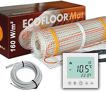 200 Watt PREMIUM Fußbodenheizung elektrisch Fliese Bad Heizmatte Thermostat 1,0 m²