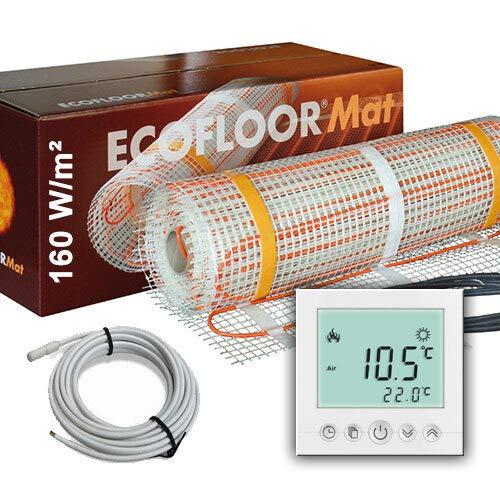 800 Watt PREMIUM Fußbodenheizung elektrisch Fliese Bad Heizmatte Thermostat 5 m²