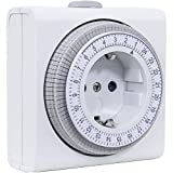 Rev ritter 25020109-00 reloj temporizador día- mecánicamente, blanco