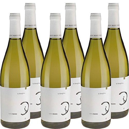 Barone Falanghina Igt Campania 2017|Vino Bianco Cantine Barone|I Vini del Cilento|Confezione da 6 Bottiglie da 75Cl|Idea Regalo|Il Vino della Dieta Mediterranea