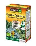 SOLABIOL SOCONY15 Engrais Conifères et Arbustes d'ornement 100% Organique   Action Longue Durée, 1,5 Kg