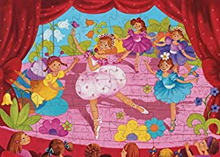 DJECO Ballerina with The Flower Silhouette Jig Saw Puzzle