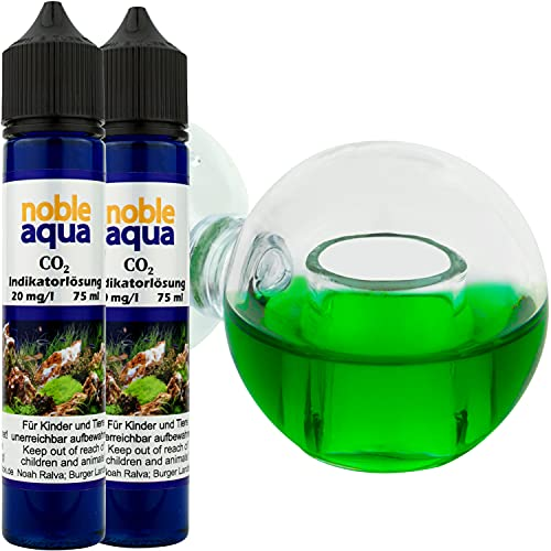 noble aqua CO2 Dauertest Aquarium 150ml CO2 Indikator Flüssigkeit 20mg/l CO2 Test Messgerät