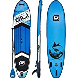 GILI All Around Inflatable Stand Up Paddle Board Package | 10'6 Long x 31' Wide x 6' Thick | Lightweight & Durable SUP | Stable & Wide Stance (Blue)
