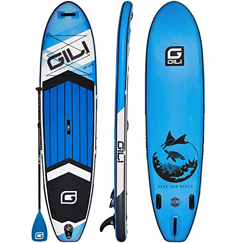 GILI All Around Inflatable Stand Up Paddle Board Package | 10'6 Long x 31