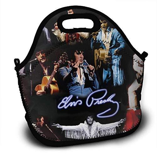 MaoMaoYongHui El-vis Pre-sley Personalisierte leichte Mittagstasche Handtasche für Kinder Reißverschluss für die Schultasche