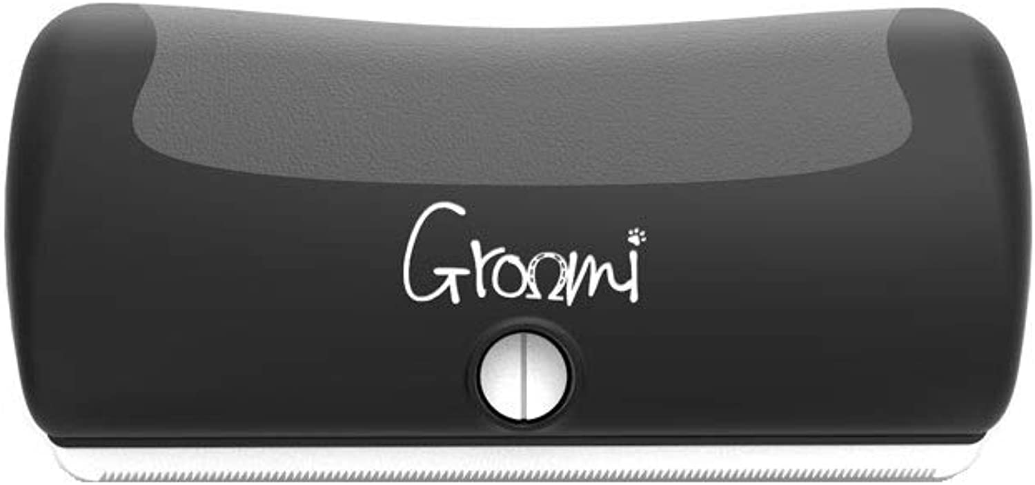 Groomi Shedding Tool For Pets (One Size) (Black)