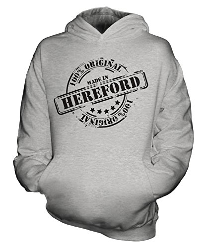 Candymix Made in Hereford - Sudadera unisex para niños Gris Fizzy 7-8 Años