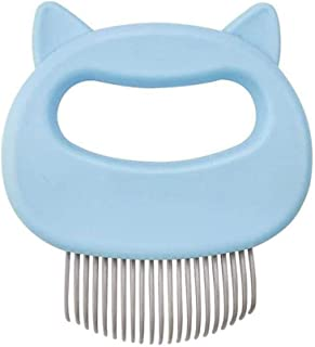 Onecut Cat Massage Comb Pet Cat Dog Hair Removal Shell Comb Grooming Hair Removal Cleaning Comb Massager Tool (Blue)