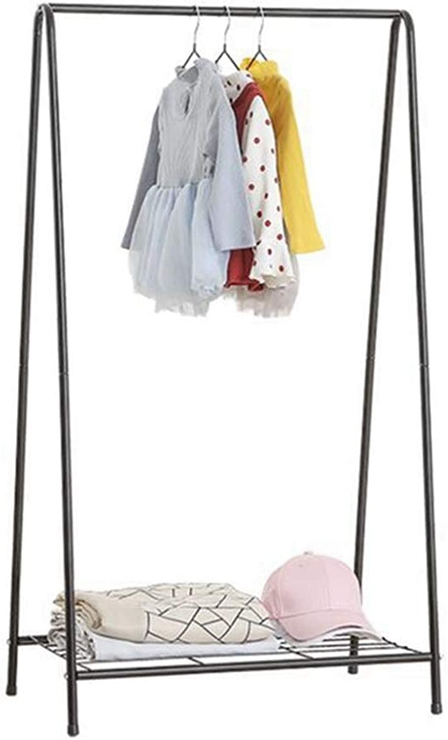 Sxuefang Coat Rack Coat Hat Rack White A-Type Drying Rack Iron Creative Home Floor Hanging Rack Drying Clothes Rack 120x38x66cm