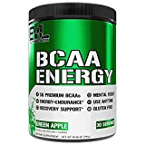 Evlution Nutrition BCAA Energy - Essential BCAA Amino Acids, Vitamin C, Natural Energizers for Performance, Immune Support, Muscle Building, Recovery, B Vitamins, Pre Workout, 30 Serve, Green Apple